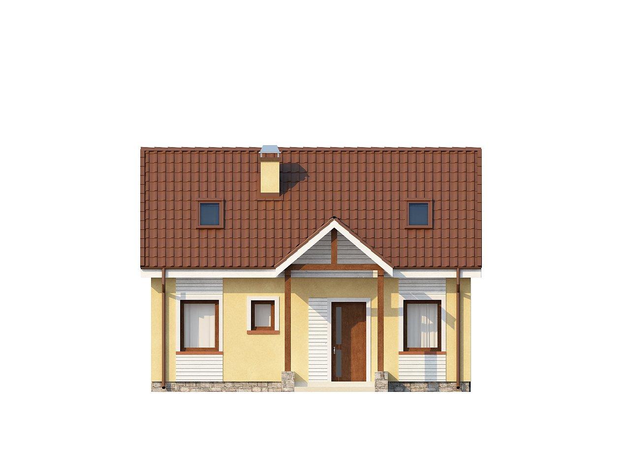 Компактный традиционный дом простой формы с двускатной крышей. 22