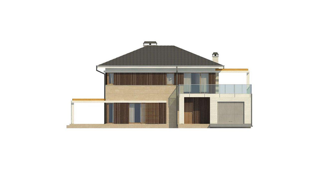 Проект двухэтажного дома Zx63 B + адаптированный под строительство в сейсмических районах 33