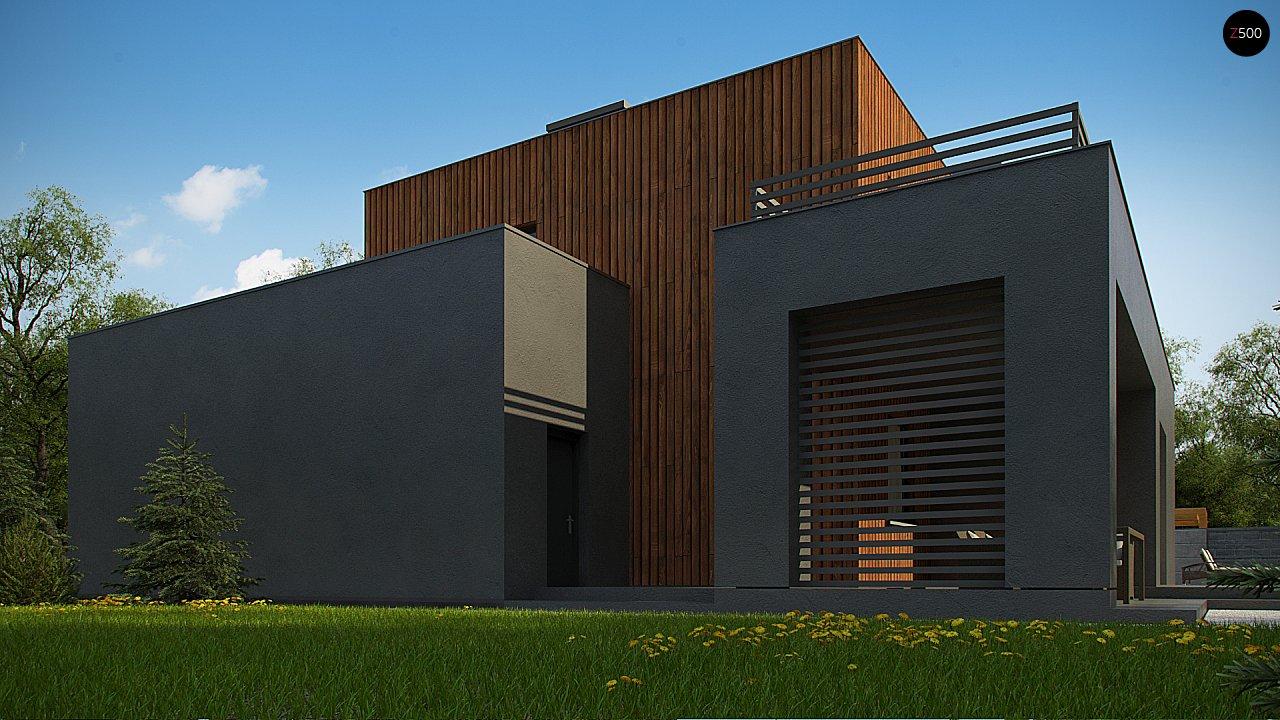 Современный дом с гаражом на 2 машины и террасой на первой 9