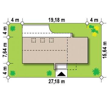 Современный эксклюзивный дом с каменной облицовкой, подходящий для узкого участка. план помещений 1