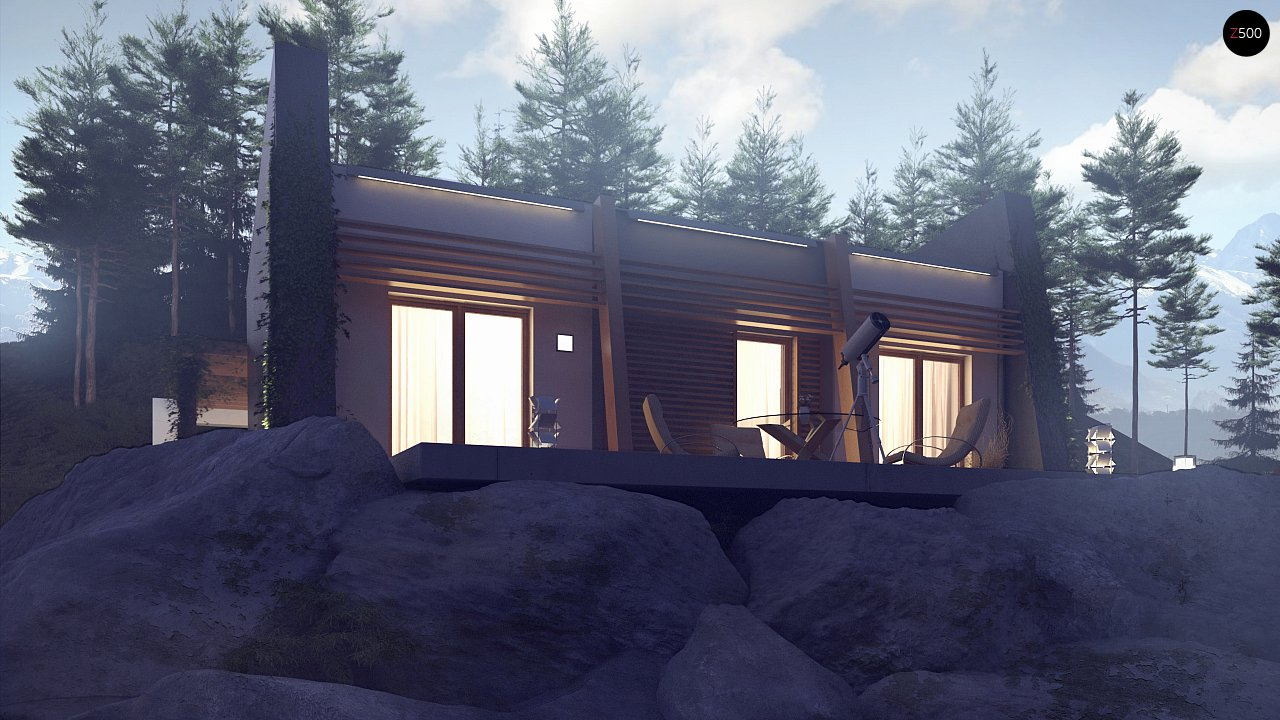 Одноэтажный дом исключительного современного дизайна. - фото 14