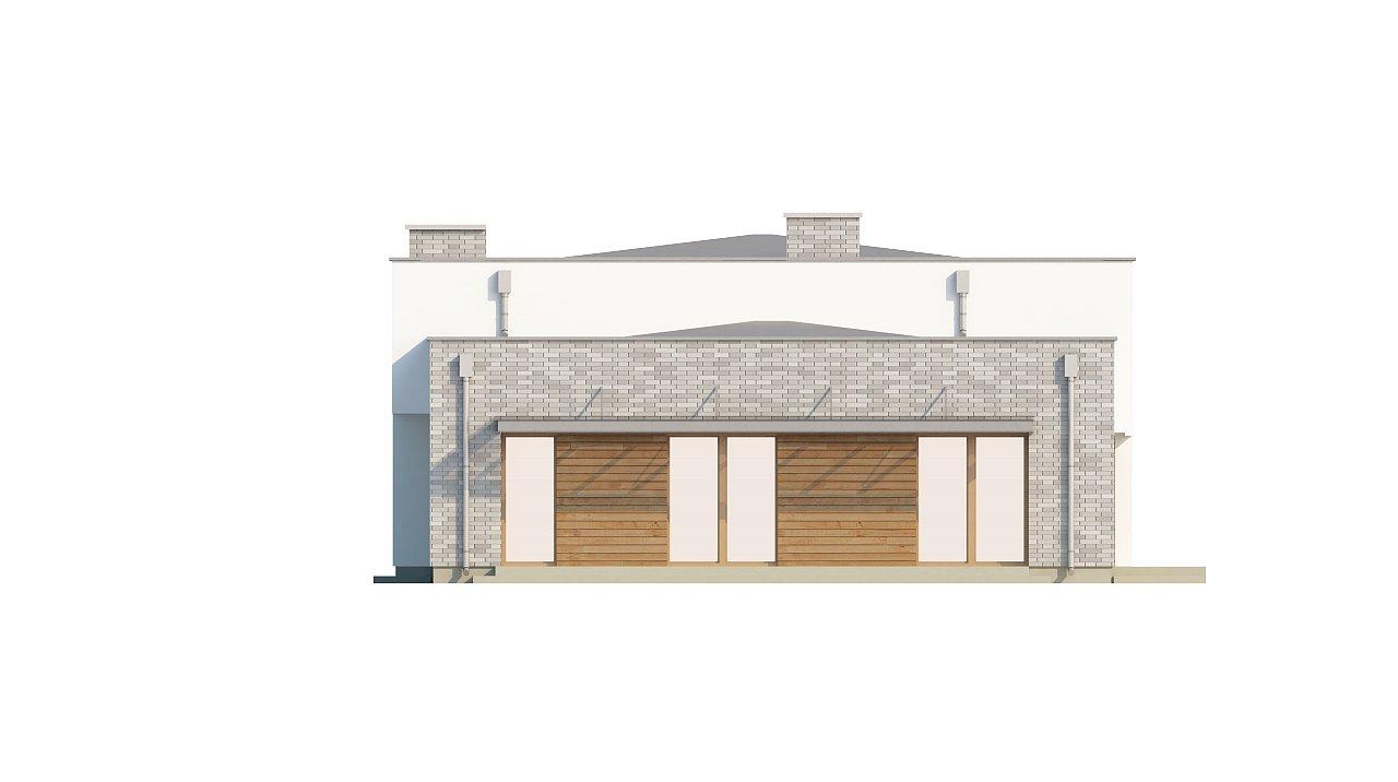 Одноэтажный практичный дом с плоской крышей современного дизайна. 15