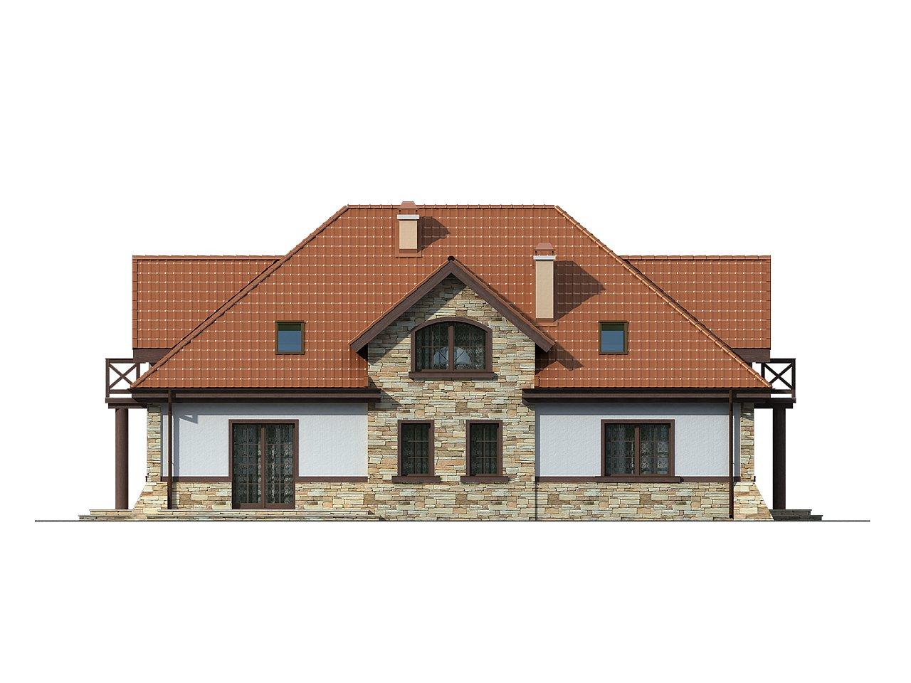 Проект двухсемейного дома в стиле дворянской усадьбы. - фото 4