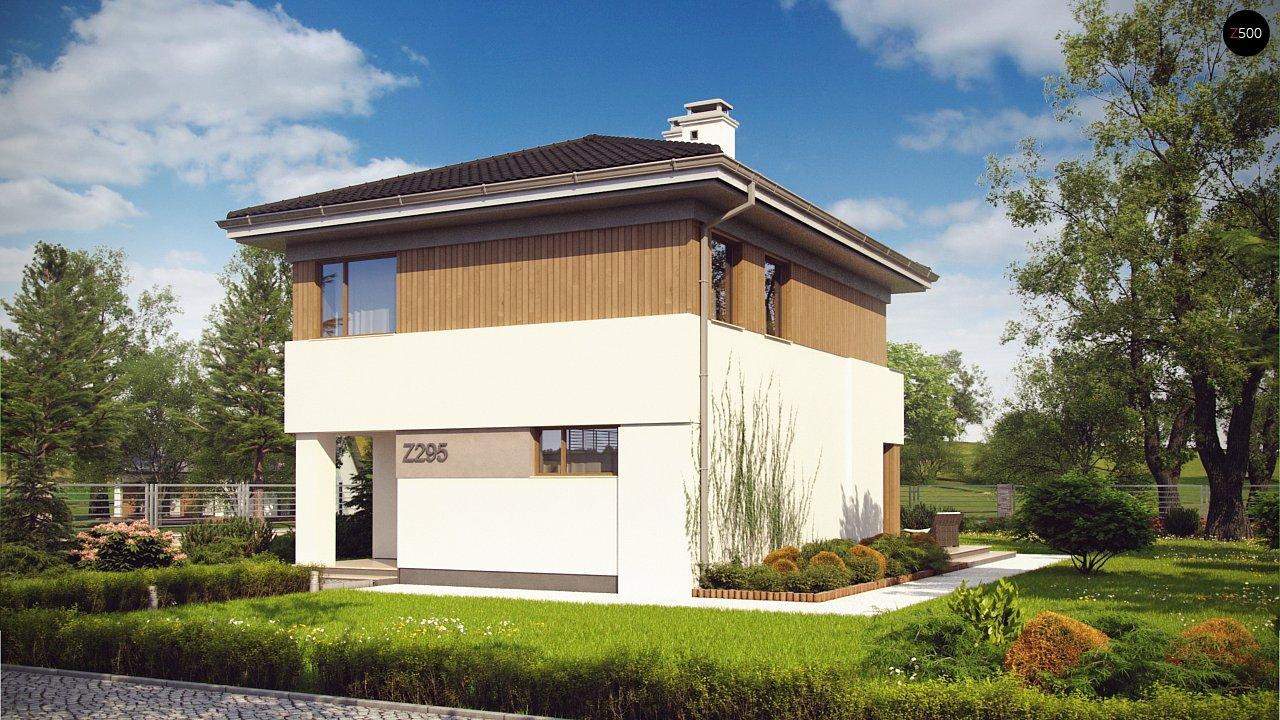 Проект компактного двухэтажного дома строгого современного стиля. 2