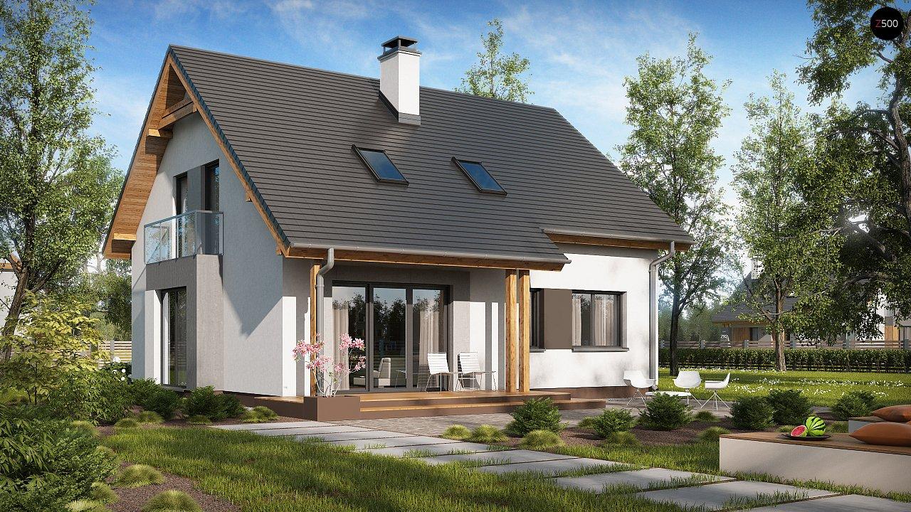 Проект практичного дома с большим хозяйственным помещением, с кабинетом на первом этаже. 2
