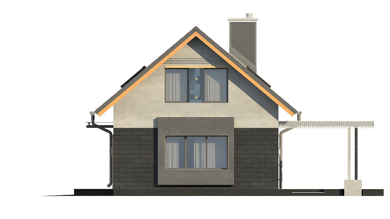 Проект компактного аккуратного дома с гаражом. - фото 10