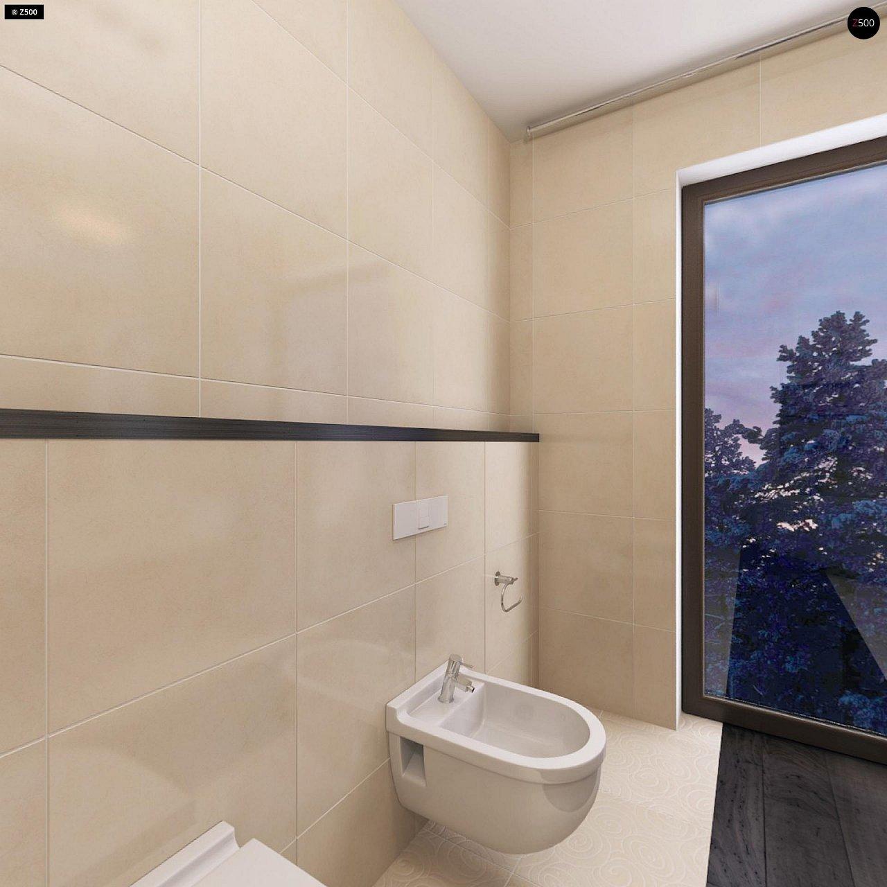Дом характерного современного дизайна с гаражом и кабинетом на первом этаже. - фото 34