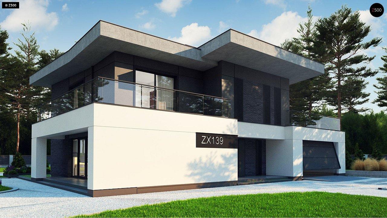 Современный стильный двухэтажный дом, с гаражом для двух машин 2