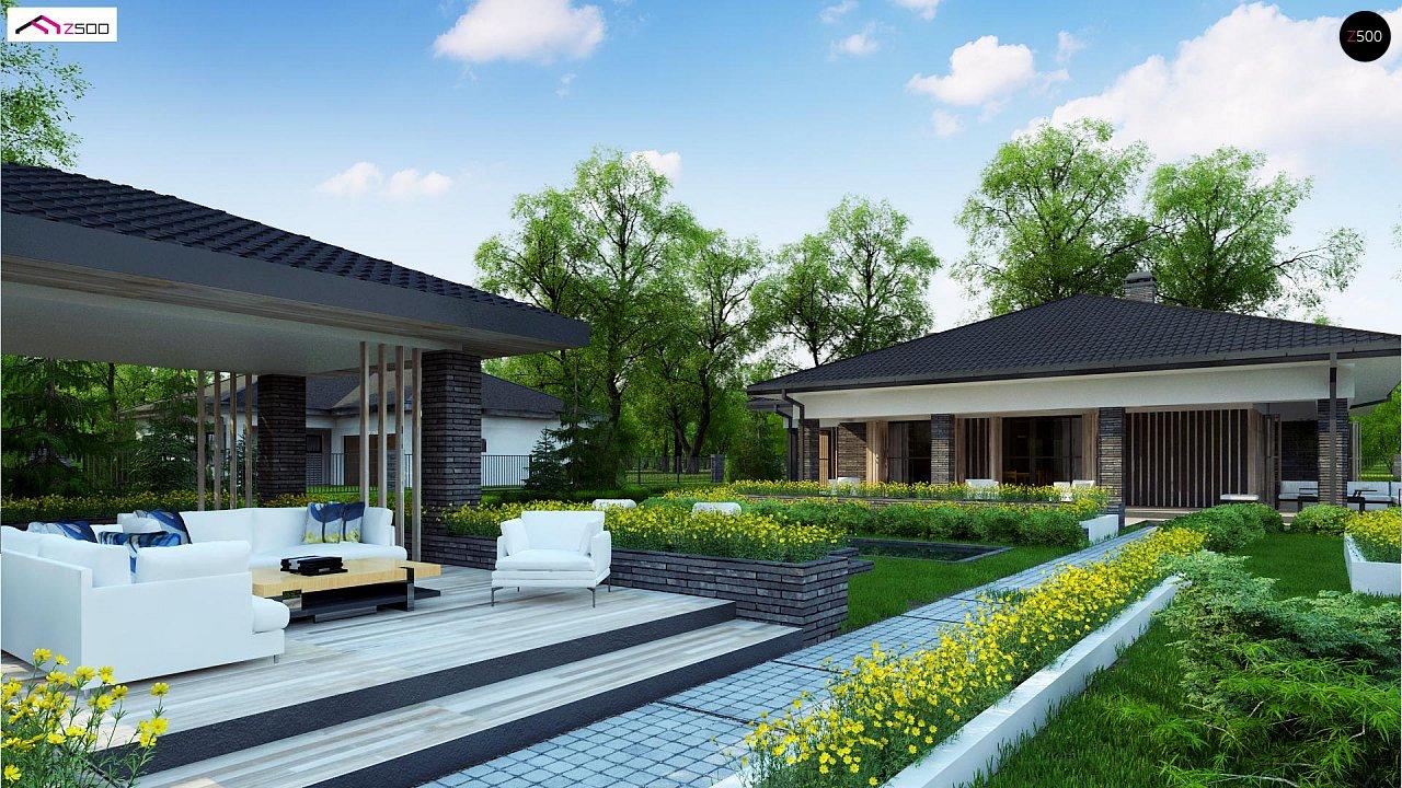 Проект стильного одноэтажного дома в традиционном стиле - фото 5