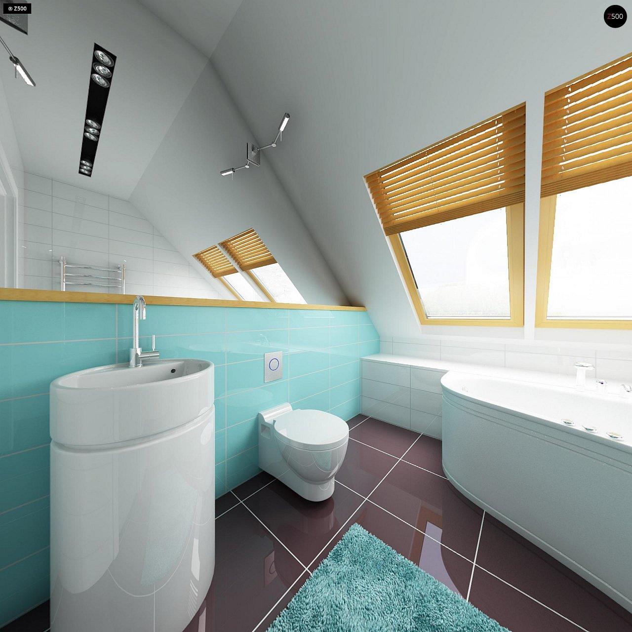Практичный дом для небольшого участка, простой в строительстве, дешевый в эксплуатации. 16