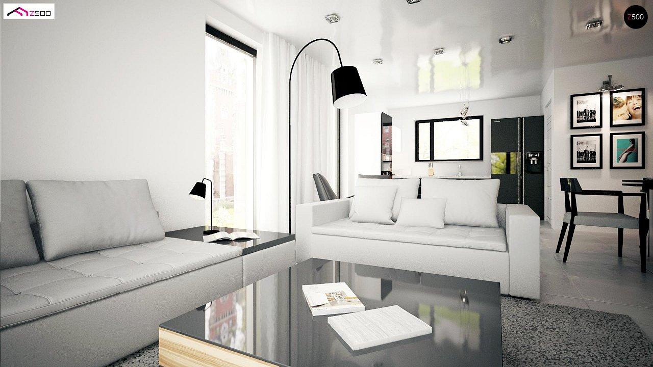 Проект комфортного одноэтажного дома с оригинальными фасадными окнами на чердаке. 11