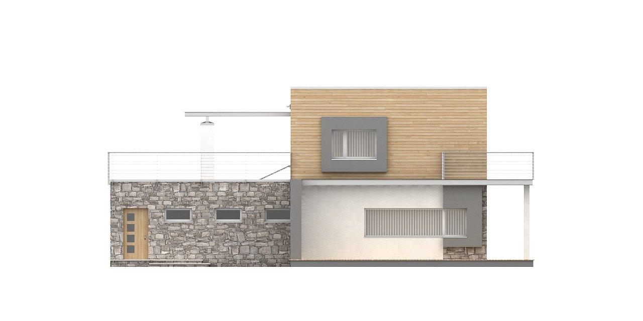 Оригинальный дом в современном стиле с обширной террасой над гаражом. - фото 6