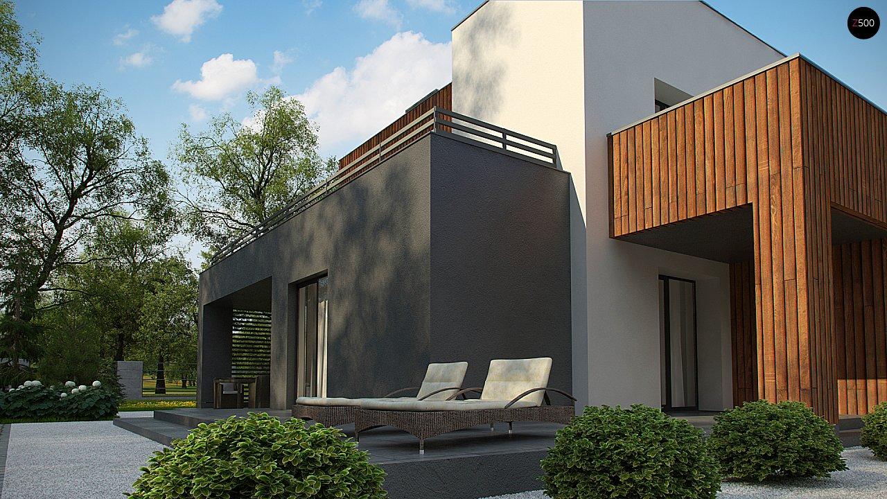 Современный дом с гаражом на 2 машины и террасой на первой 8