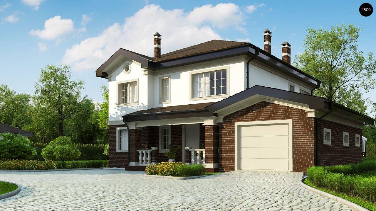 Просторный проект двухэтажного дома с удобной планировкой. - фото 2