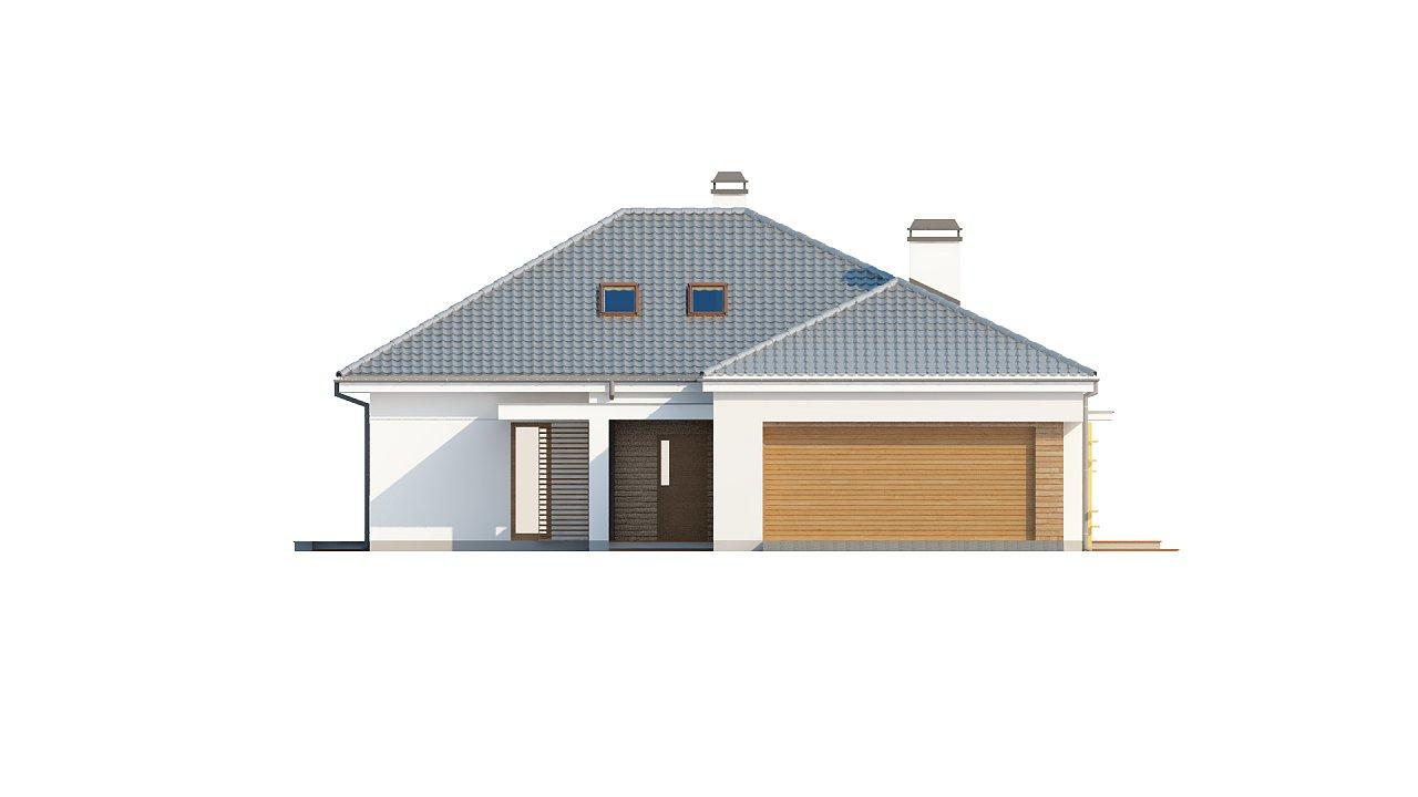 Практичный одноэтажный дом с гаражом, с возможностью адаптации мансарды. 3