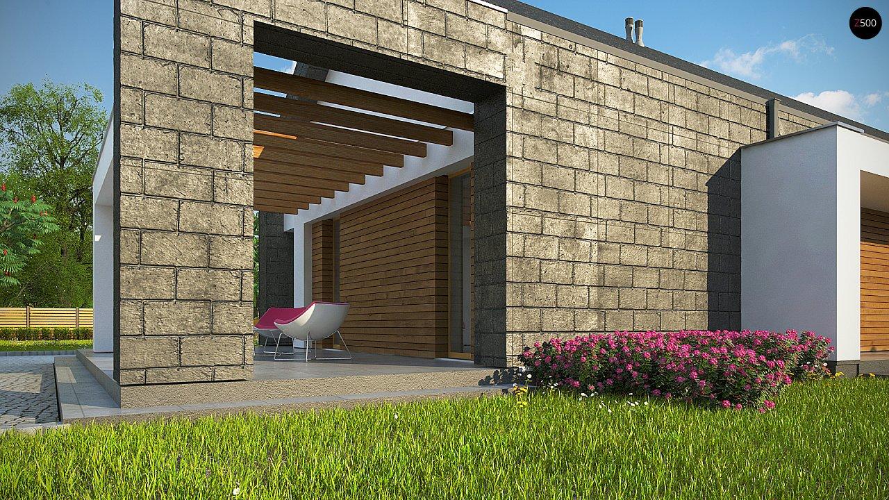 Современный дом с двускатной крышей на узком участке - фото 5