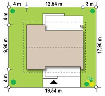 Проект небольшого практичного одноэтажного дома. Есть возможность обустройства чердачного помещения. план помещений 1