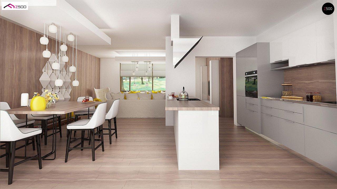 Вариант проекта Z140 с фронтальным расположением кухни. - фото 9