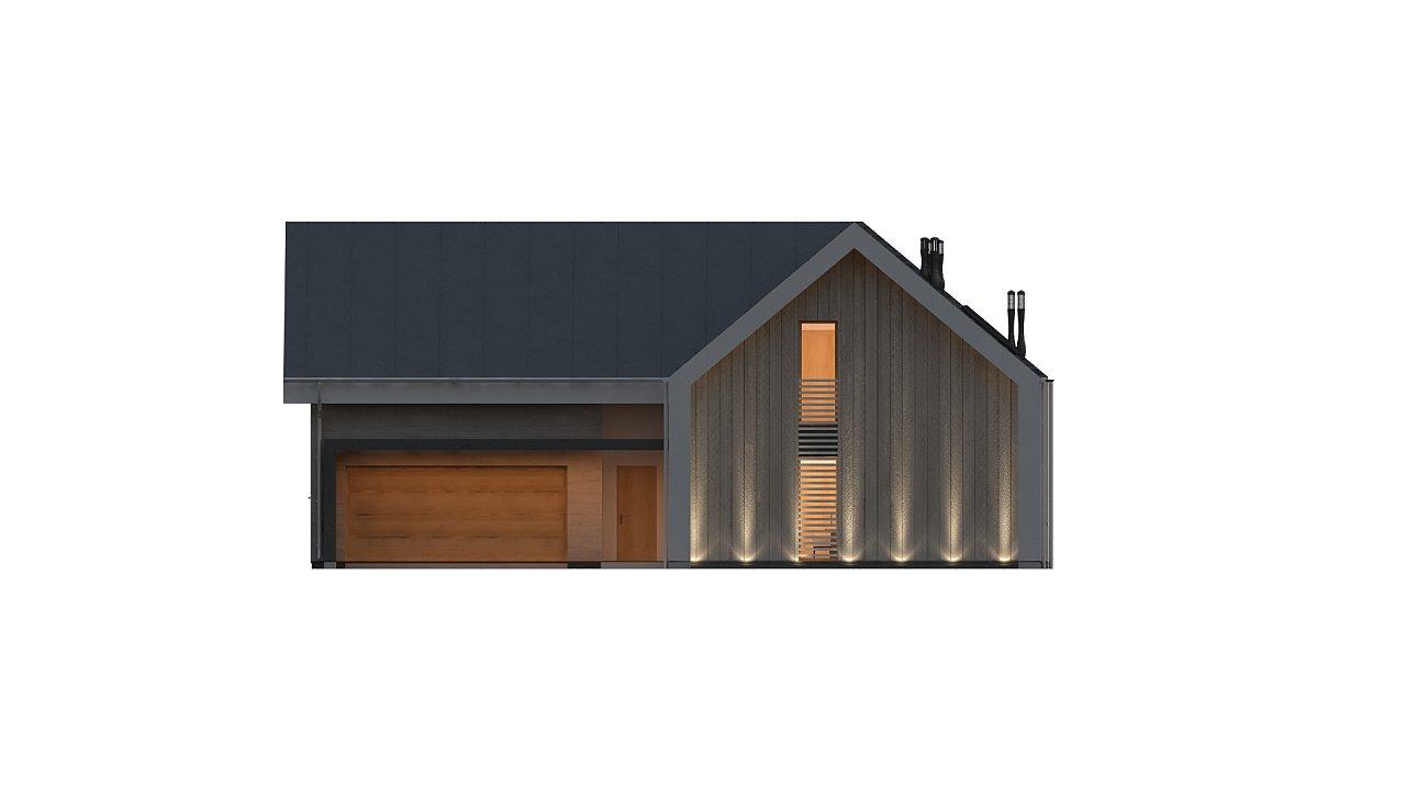 Современный мансардный дом с гаражом на две машины - фото 6