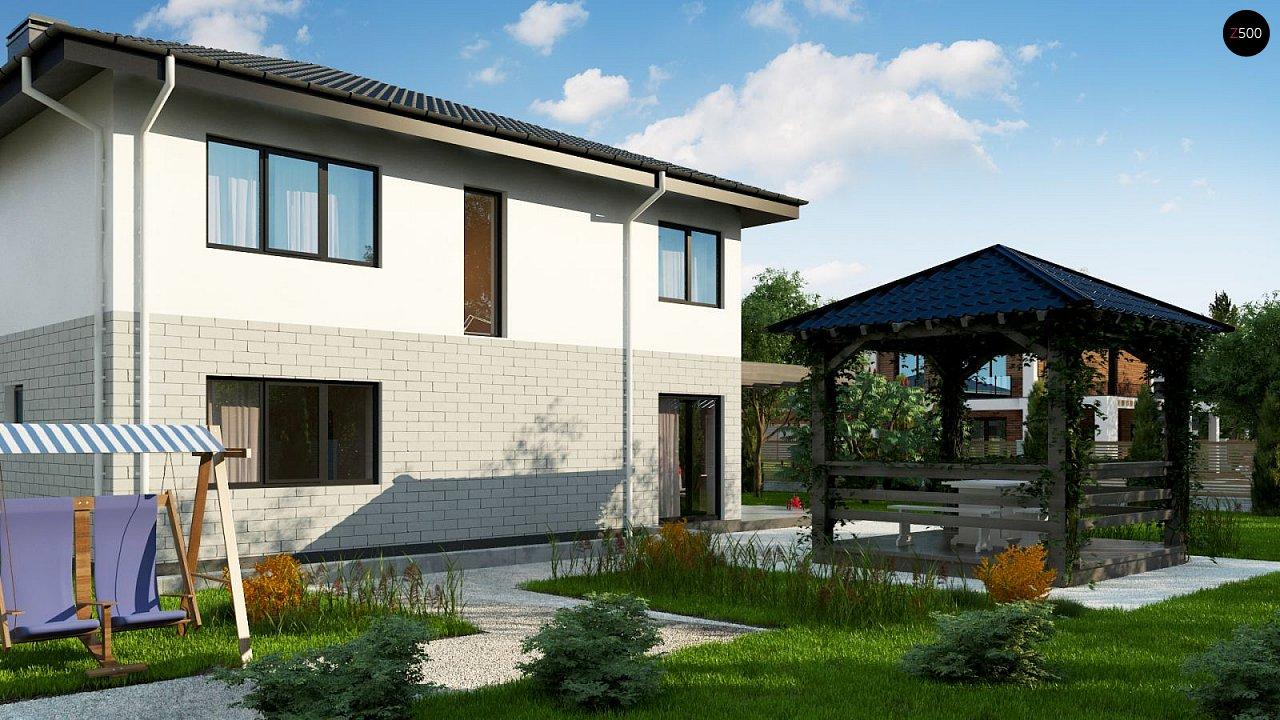 Современный двухэтажный дом с гаражом. 3