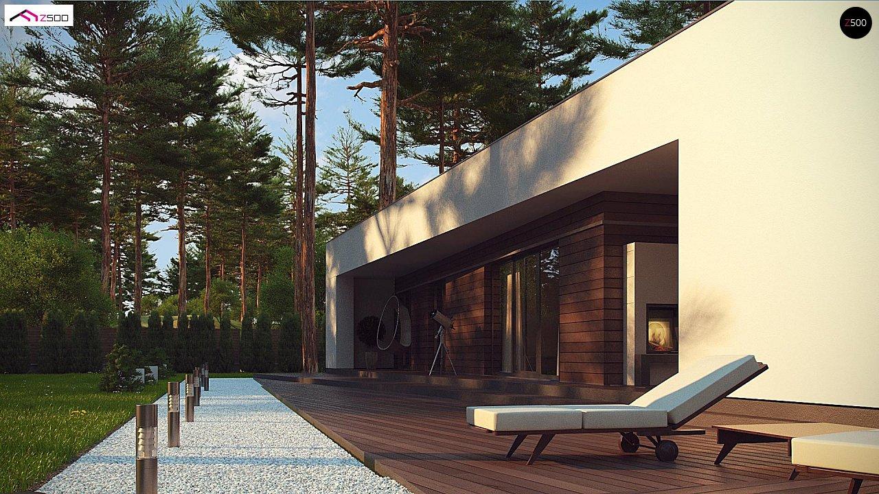 Современный одноэтажный дом с боковой террасой 5