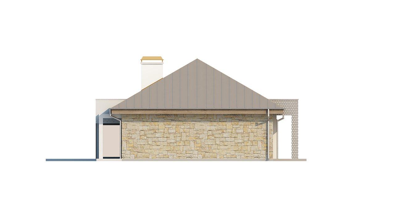 Проект одноэтажного дома с гаражом, с четко выделенной приватной зоной. 5