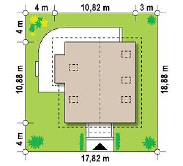 Экономичный в строительстве дом с дополнительной спальней на первом этаже. план помещений 1