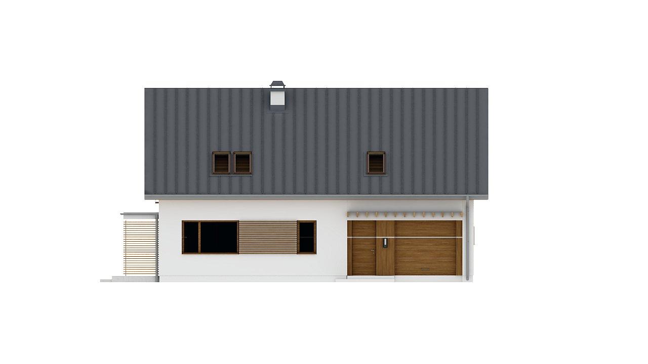 Аккуратный дом простой традиционной формы с гаражом и дополнительной спальней на первом этаже. 21