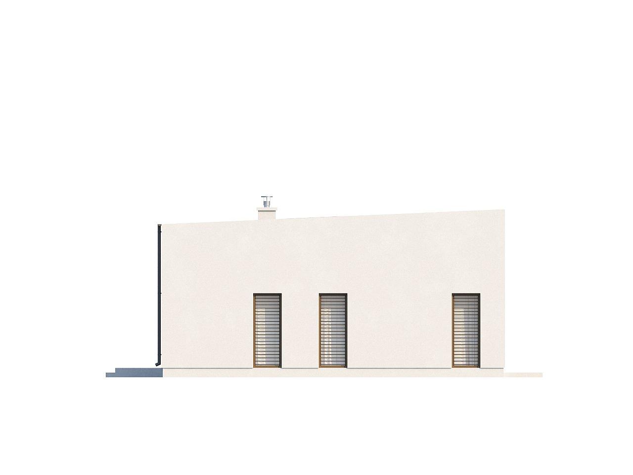 Современный функциональный дом с большой площадью остекления в гостиной. 27