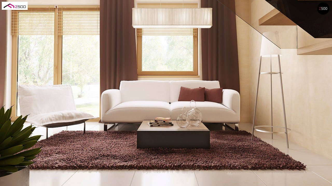 Компактный дом в традиционном стиле с двускатной крышей и красивыми мансардными окнами. - фото 3