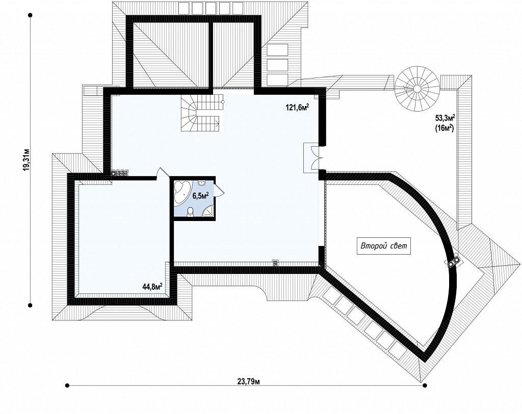 Изысканная резиденции с прекрасно продуманным интерьером. план помещений 2