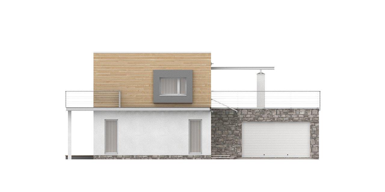 Оригинальный дом в современном стиле с обширной террасой над гаражом. - фото 5