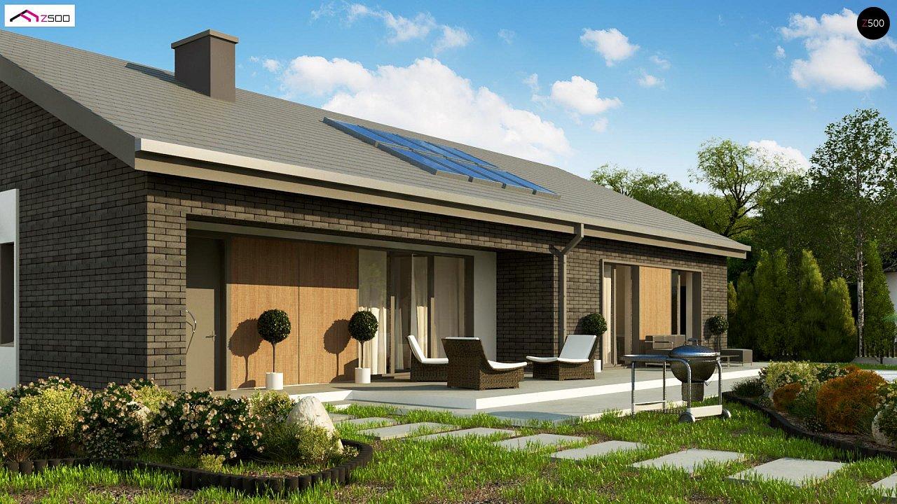 Одноэтажный дом с 4 спальнями, гаражом и 2-х скатной крышей 5