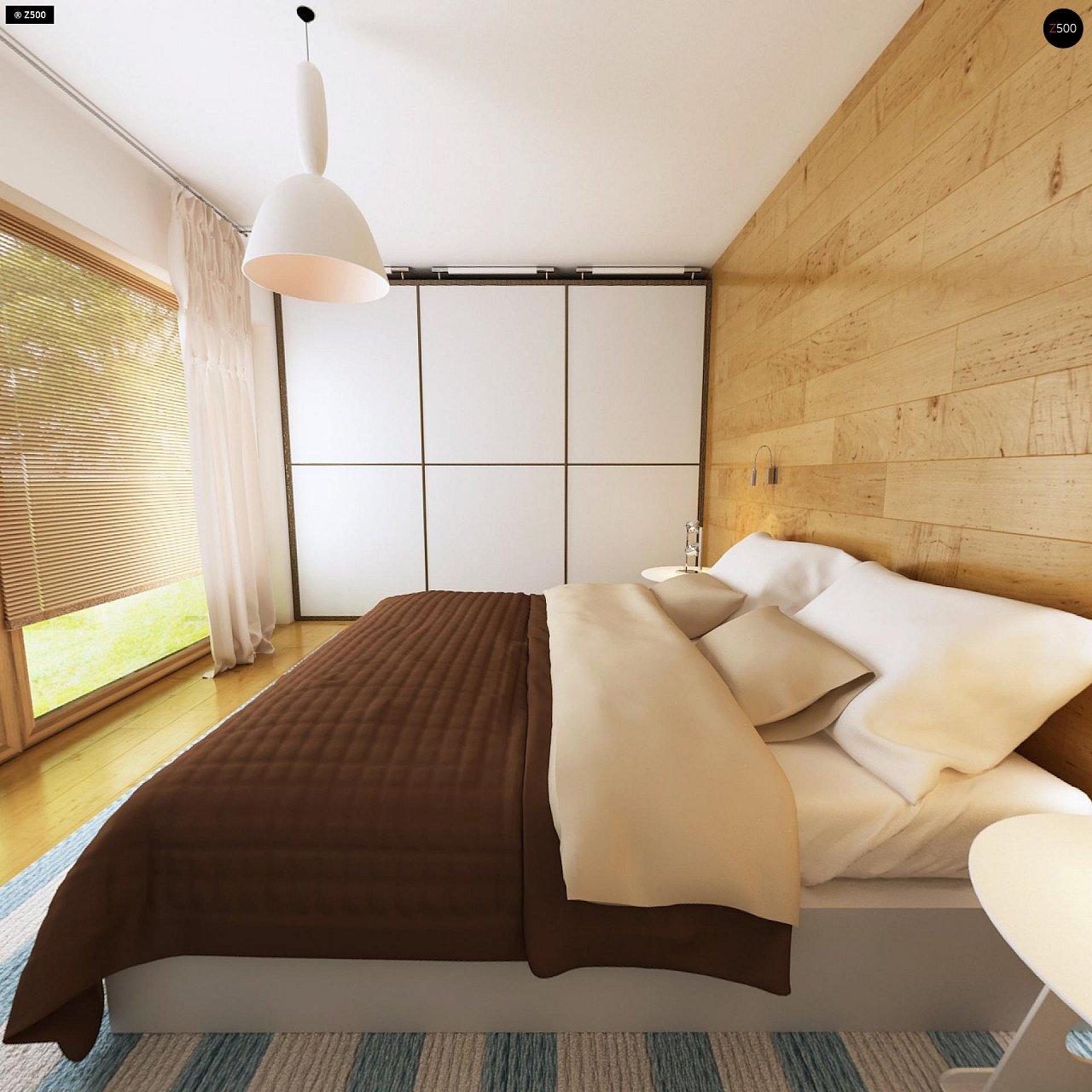 Комфортный современный дом с гаражом для двух авто и обширной террасой на втором этаже. - фото 11
