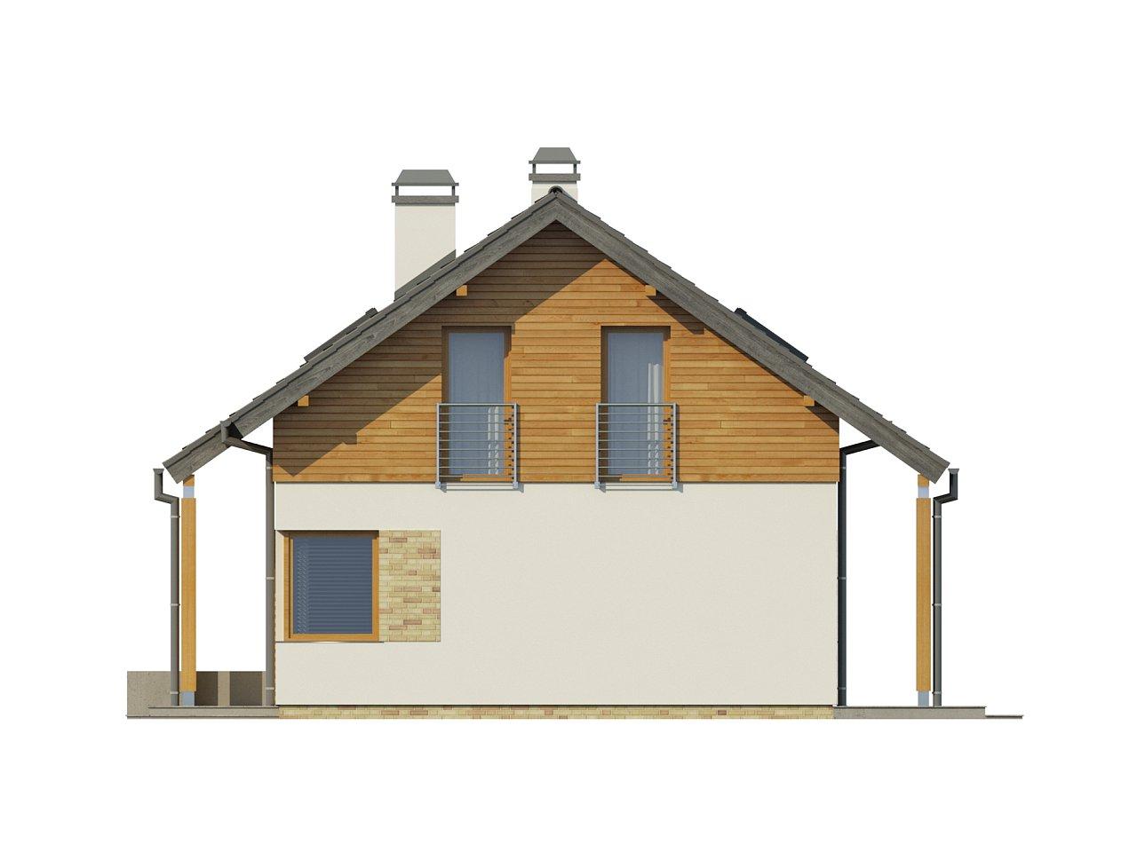 Компактный односемейный дом с дополнительной спальней на первом этаже. 21