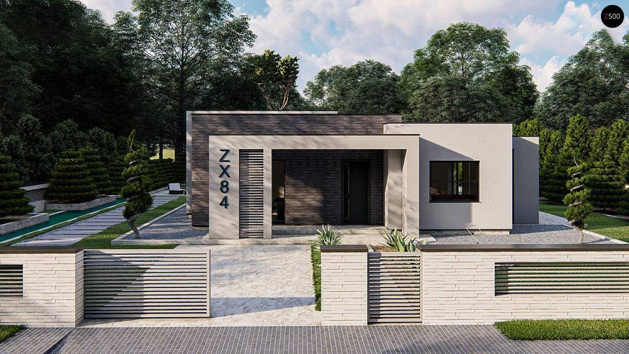 Одноэтажный современный дом с плоской крышей 7