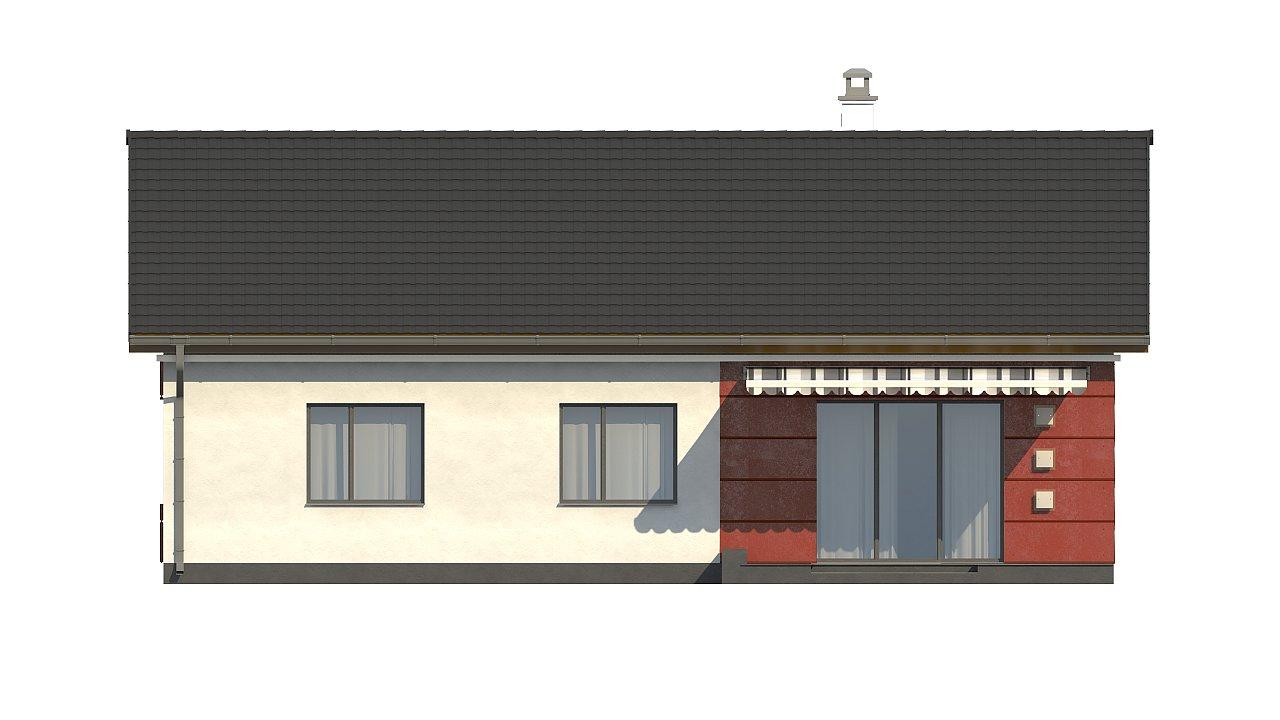 Аккуратный одноэтажный дом в классическом стиле. - фото 24