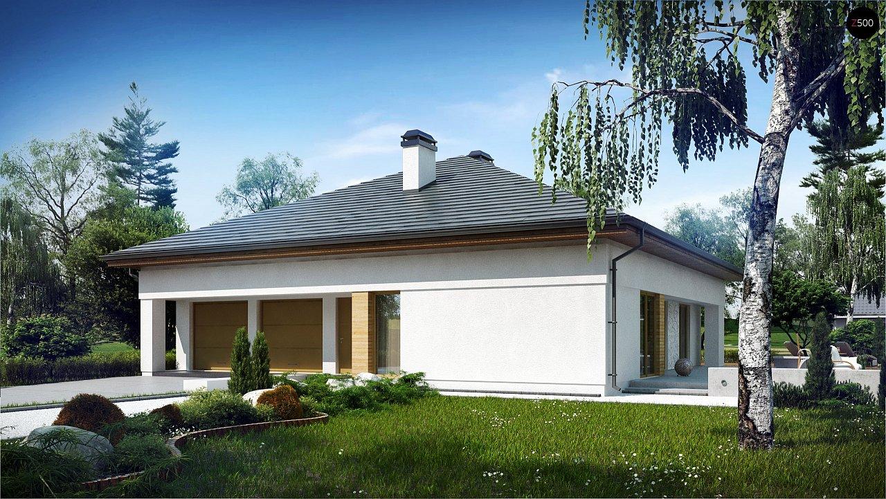 Проект просторного дома с многоскатной крышей. 2