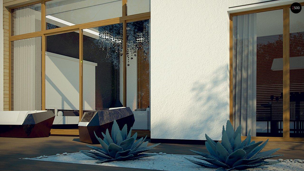 Одноэтажный дом в стиле современного минимализма 7