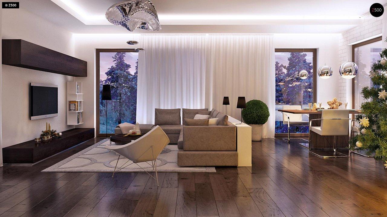 Дом характерного современного дизайна с гаражом и кабинетом на первом этаже. - фото 23