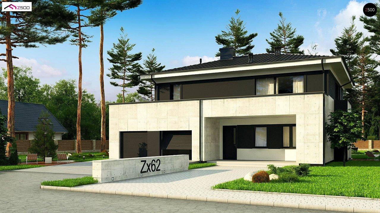 Проект просторного современного коттеджа с 5 спальнями. - фото 1