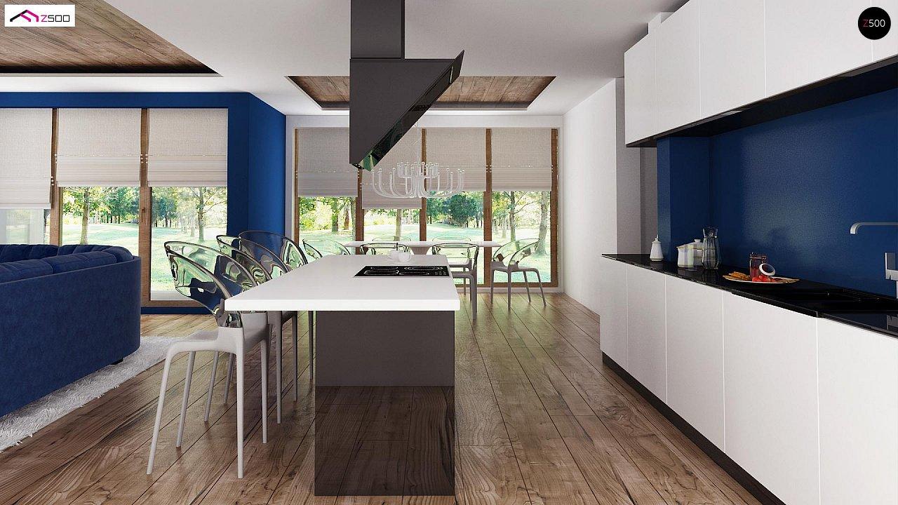 Проект удобного и красивого мансардного дома с гаражом на 2 машини и 3 спальнями. 8