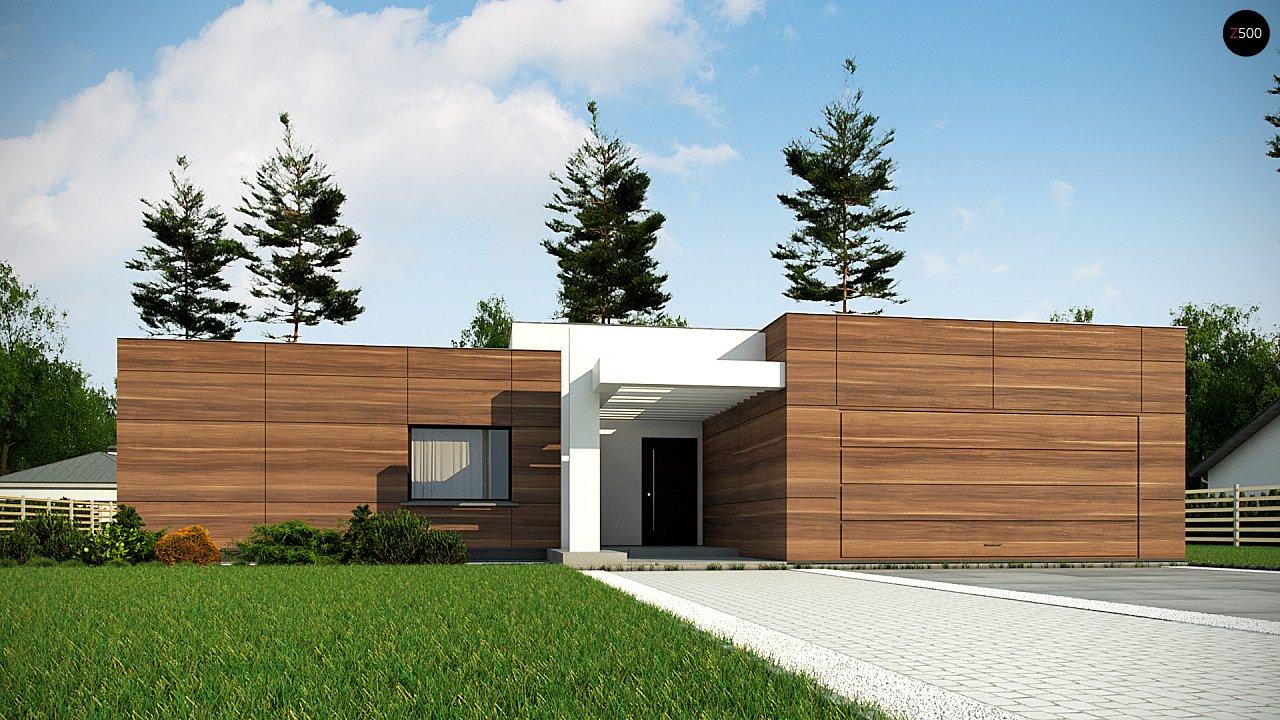 Одноэтажный дом с плоской кровлей, тремя спальнями и гаражом на две машины 7