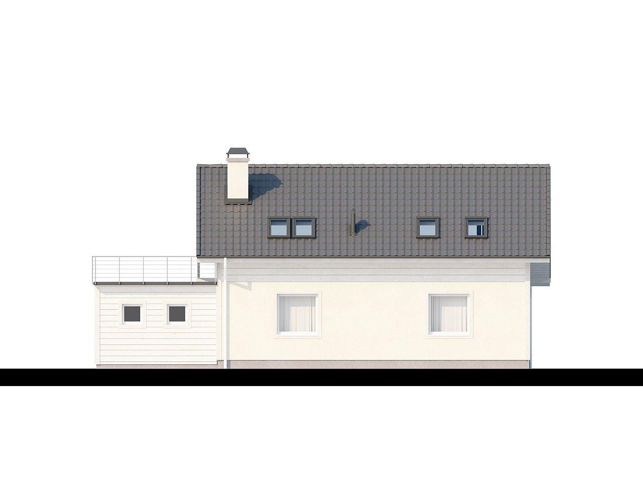 Дом со входом с южной стороны, с большой террасой на втором этаже. - фото 4