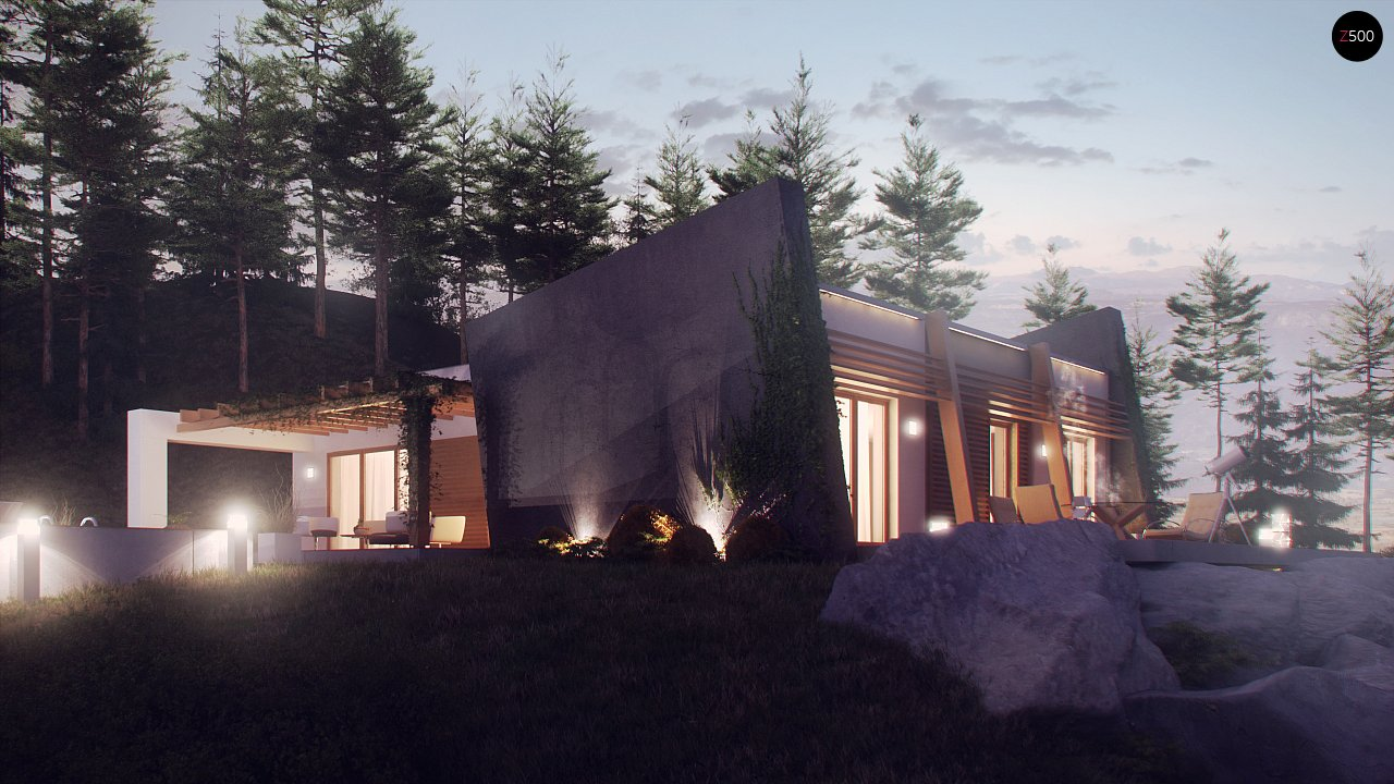 Одноэтажный дом исключительного современного дизайна. 13
