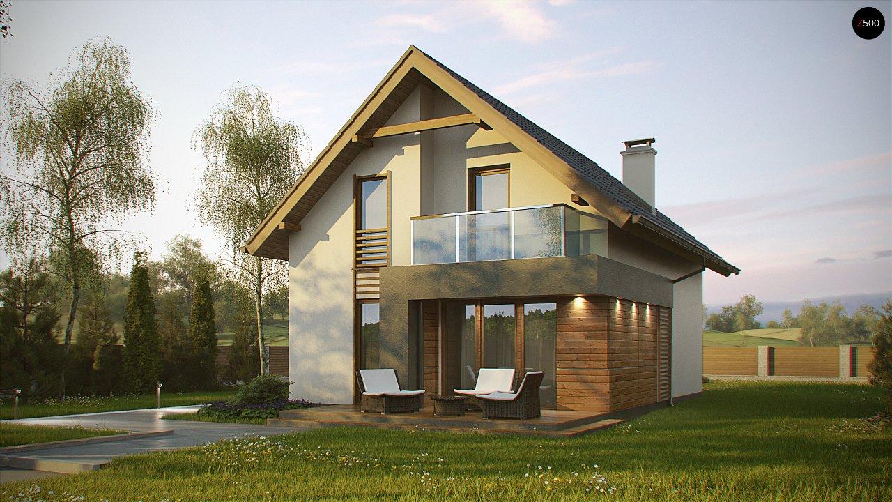 Компактный и удобный дом традиционной формы, подходящий, также, для узкого участка. 2