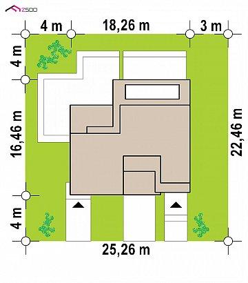 Современный двухсемейный дом с отдельными входами план помещений 1