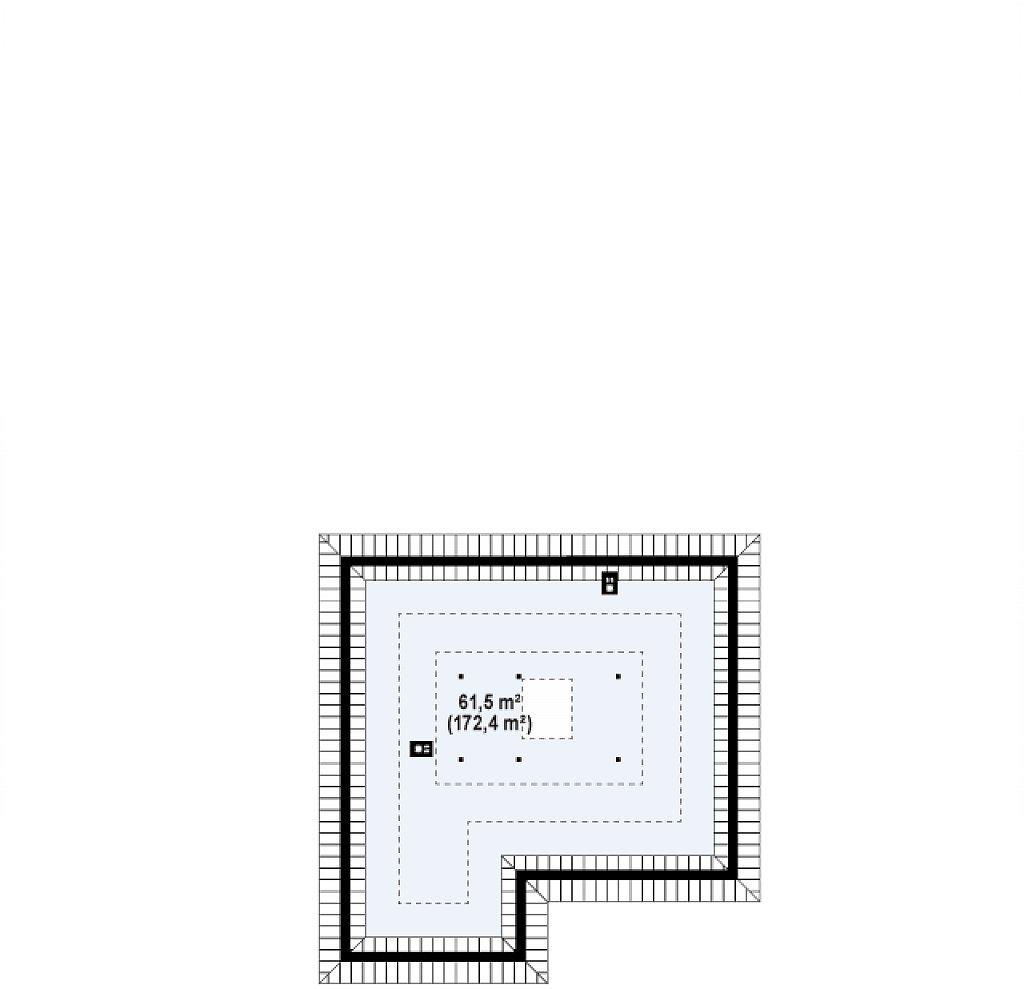 Одноэтажный удобный дом с фронтальным гаражом, с возможностью обустройства мансарды. план помещений 2