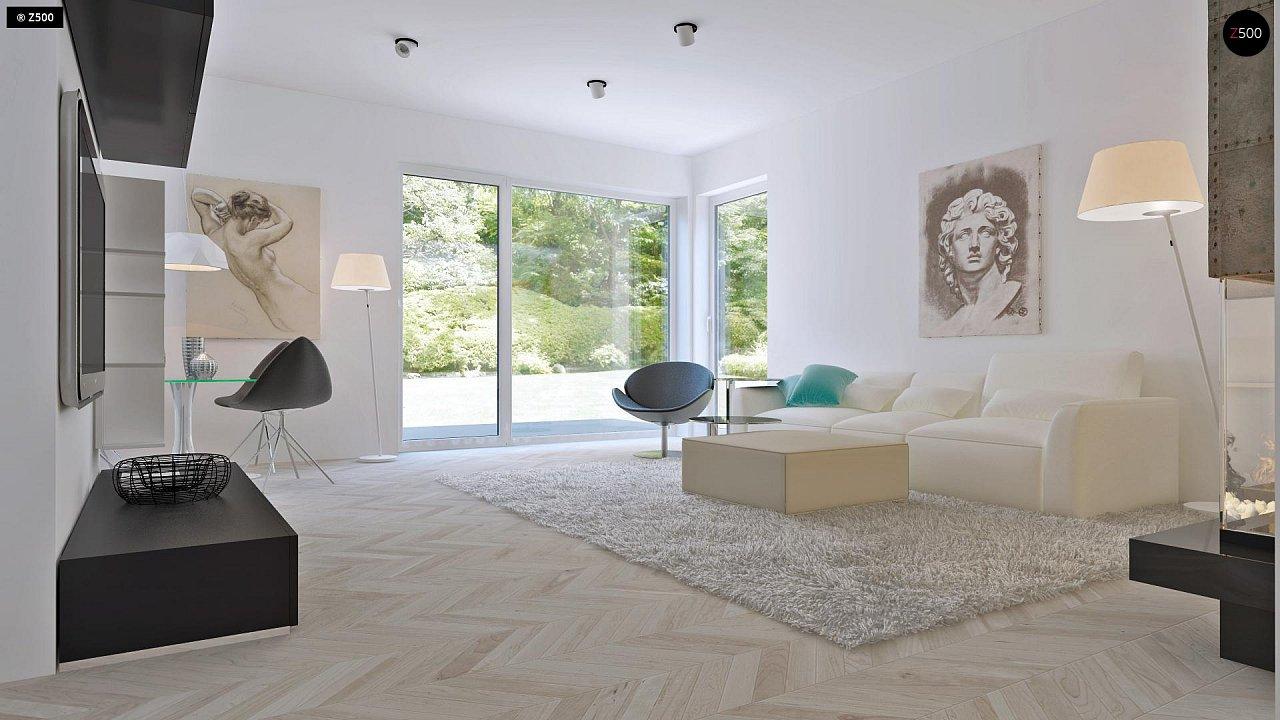 Проект компактного двухэтажного дома строгого современного стиля. 7