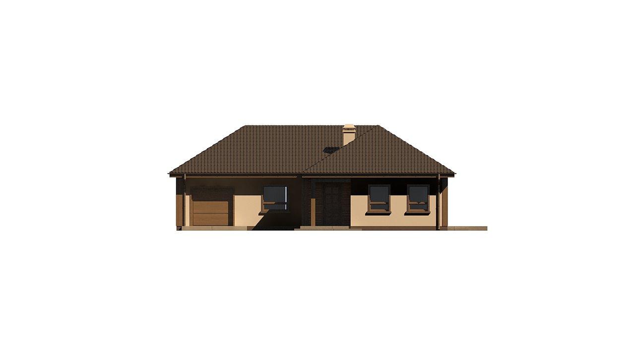 Версия проекта Z15 со вcтроенным гаражом с левой стороны. 2
